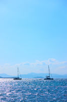 Yachts in the sea
