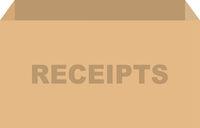 Tax Receipts Box Vector