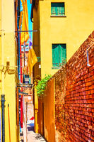 Narrow side street in Burano