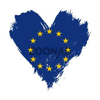 Brushstroke painted flag of European Union