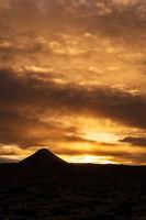 Mount Keilir on sunset in Reykjanes, Iceland