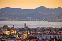 Dalmatian city of Zadar panoramic view with Island of Ugljan
