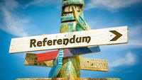 Street Sign to Referendum