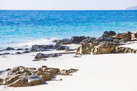 White fine sand coral beach