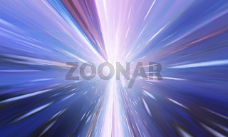 Flying Through Wormhole Tunnel Or Abstract Energy Vortex. Singularity, Gravitational Waves And Spacetime Concept