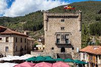 Torre del Infantado in Potes, Cantabria, Spain.