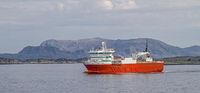 Transport ship in Fjord Nordsalten