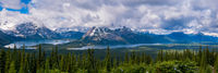 Upper and Lower Kananaskis Lakes from the Kananaskis fire lookout in Peter Lougheed Provincial Park, Alberta