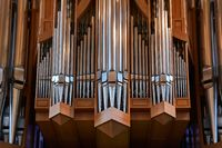 Church organ pipes