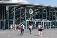 Travellers at Dutch railway station Utrecht Centraal