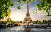 River Seine and Eiffel Tower