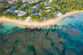 Aerial view of Bahia beach during the day