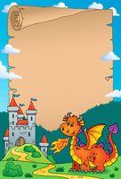 Dragon and castle theme parchment 3