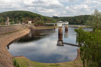 Gileppe dam in Belgium with two drinking water supply systems
