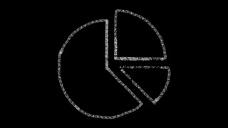 diagram icon drawn with drawing style on chalkboard, animated footage ideal for compositing and motiongrafics
