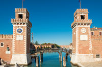 Entrance to Venetian Arsenal in Venice