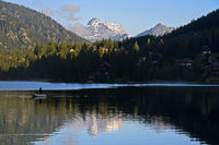 Alpine lake Lac de Champex, Champex-Lac, Valais, Switzerland