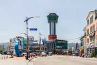 Street Scenario of Lighthouse Park with Building and Tower in Mukho Port, Donghae City, Gangwon Province, South Korea, Asia.