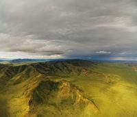 Mongolian mountain natural landscapes near