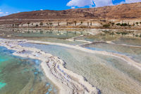 The evaporated salt on the Dead Sea