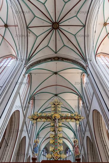 crucifix, Triumphal Cross, cathedral, Schwerin, Mecklenburg-Western Pomerania, Germany, Europe