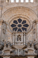 Window above main entrance to the Porto Cathedral