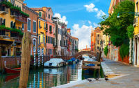 Colorful houses of Venice