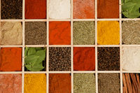 Colorful spice variation.