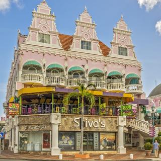Colourful Buildings, Oranjestad, Aruba, West Indies