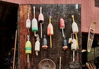 Fishing buoys at flea market