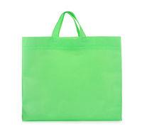 Green fabric blank shopping bag
