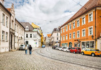 The centre of the historic town of Augsburg, Germany