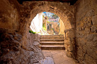 Stone carved street of Omis old town