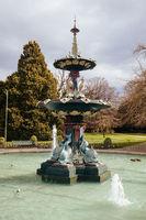 Christchurch Botanic Gardens Peacock Fountain New Zealand
