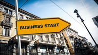 Street Sign BUSINESS START