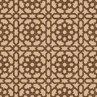 Seamless geometric ornament in brown colors lines.