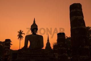 ASIA THAILAND SUKHOTHAI WAT MAHATHAT BUDDHA