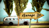 Street Sign to Garage