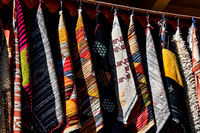 scarves for sale at the market, photo as background