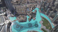 Modern architecture Downtown Dubai and Burj Khalifa Lake at the foot of the tallest building in the world