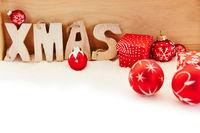 Rote Xmas Weihnachten Dekoration