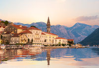 Perast at sunset