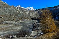 Hiking area Zermatt, peaks Strahlhorn and Adlerhorn, Zermatt, Valais, Switzerland