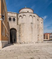 Round St Donatus church in the old town of Zadar in Croatia