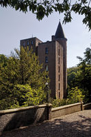 New residential tower of Landsberg Castle, Ratingen, North Rhine-Westphalia, Germany, Europe
