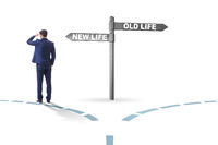 Concept of new and old life