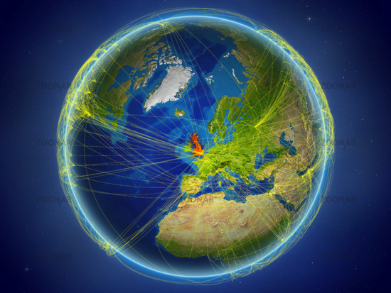 United Kingdom on Earth with networks