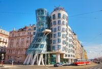 Nationale-Nederlanden building in Prague, Czech Republic