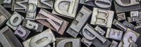 old letterpress metal type printing blocks