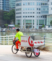 Garbage worker bicycle carriage, Singapore